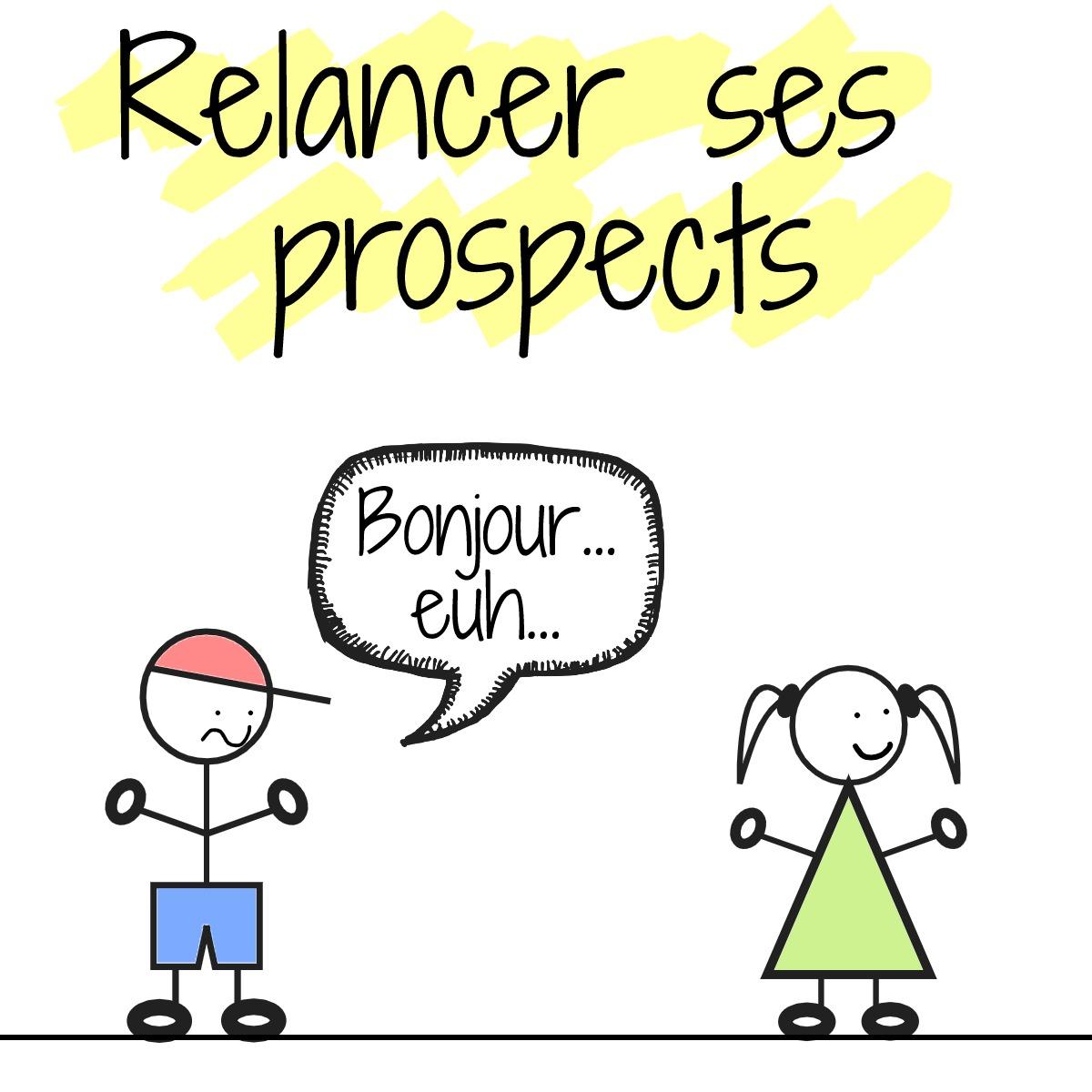message relance prospect freelance