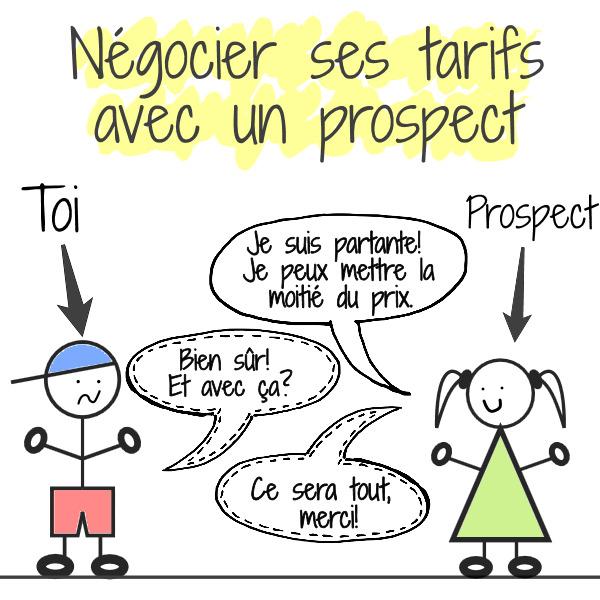 négocier tarifs prospects freelance