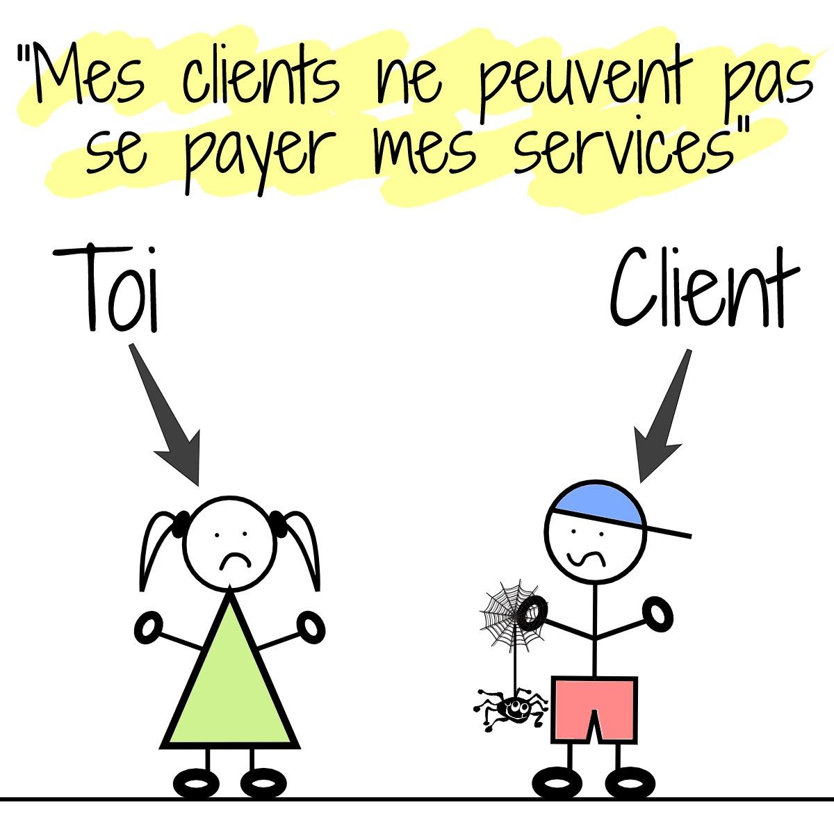 mes clients ne peuvent pas se payer mes services