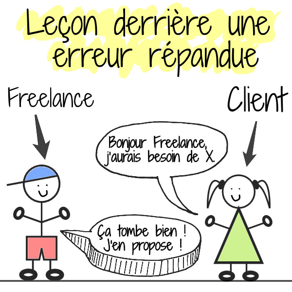 erreur répandue freelance