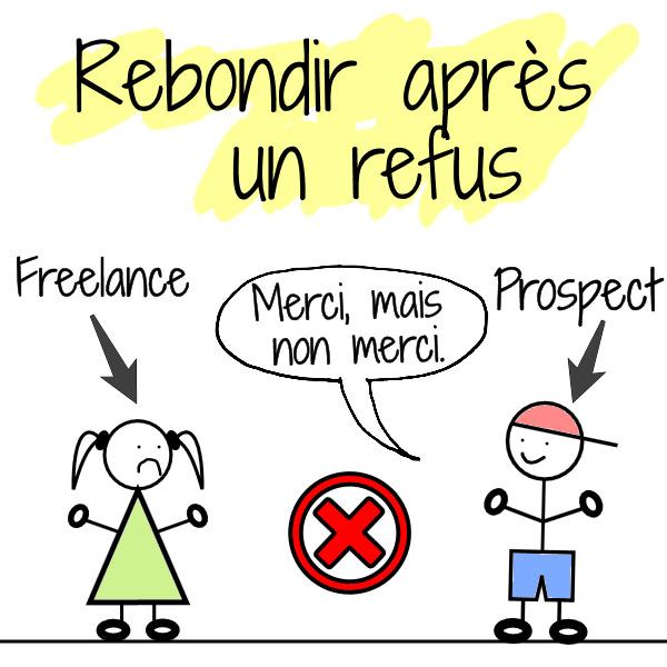 rebondir refus client prospect freelance